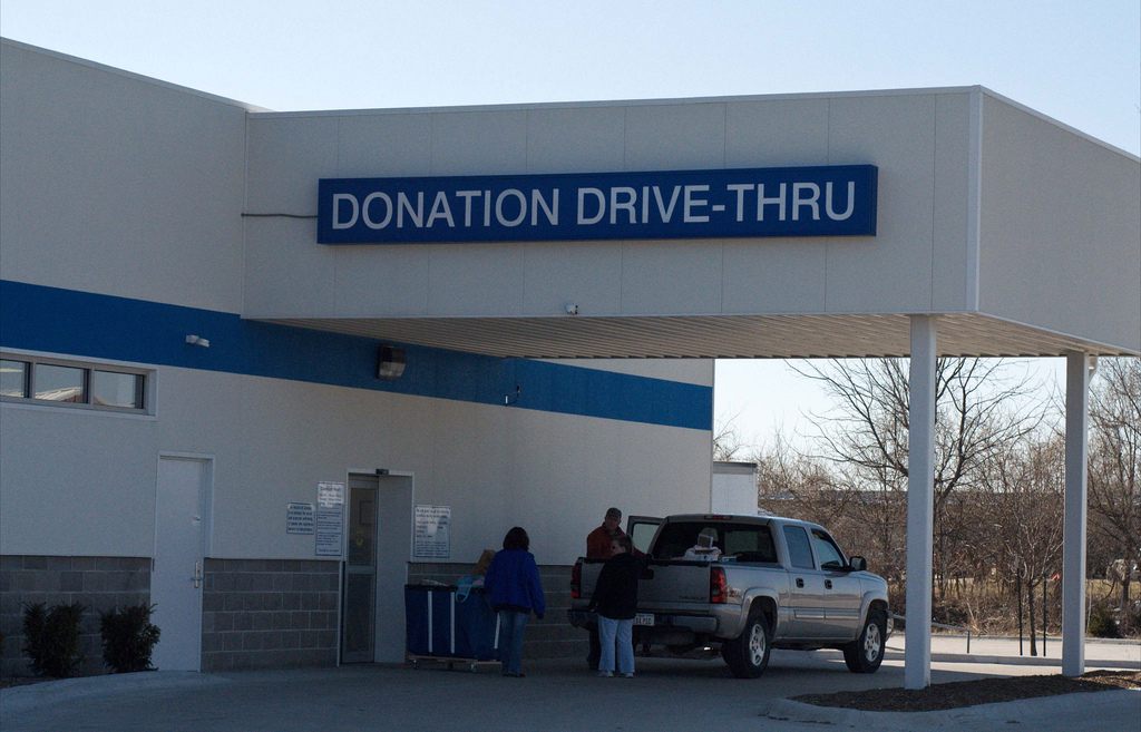 Donations Drive Through, Goodwill