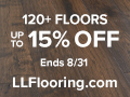 120+ Floors Up To 15% OFF at LL Flooring!