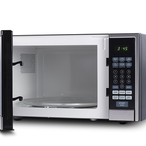 Westinghouse WCM11100SS 1000 Watt Counter Top Microwave Oven, 1.1 Cubic Feet, Stainless Steel Front, Black Cabinet