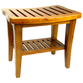 Redmon Indoor Outdoor Home Garden Decor Classic Genuine Teak Wood Bench